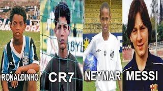 When the Legends were Children ... Neymar, Cristiano Ronaldo, Ronaldinho and Messi