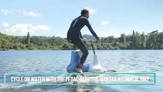 manta 5 hydrofoil water bike prototype teaser | pedal-electric hydrofoil