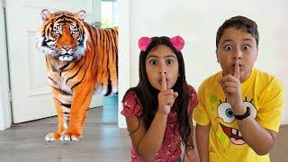 Maria Clara e JP realmente querem ter um animal de estimação ♥ Children really want to have a pet.