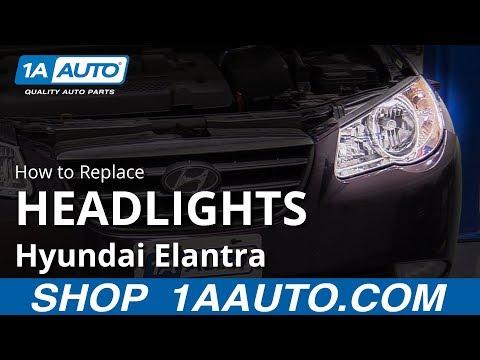 How to Replace Headlight Assemblies 07-10 Hyundai Elantra