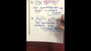 Identifying Intermolecular Forces 1