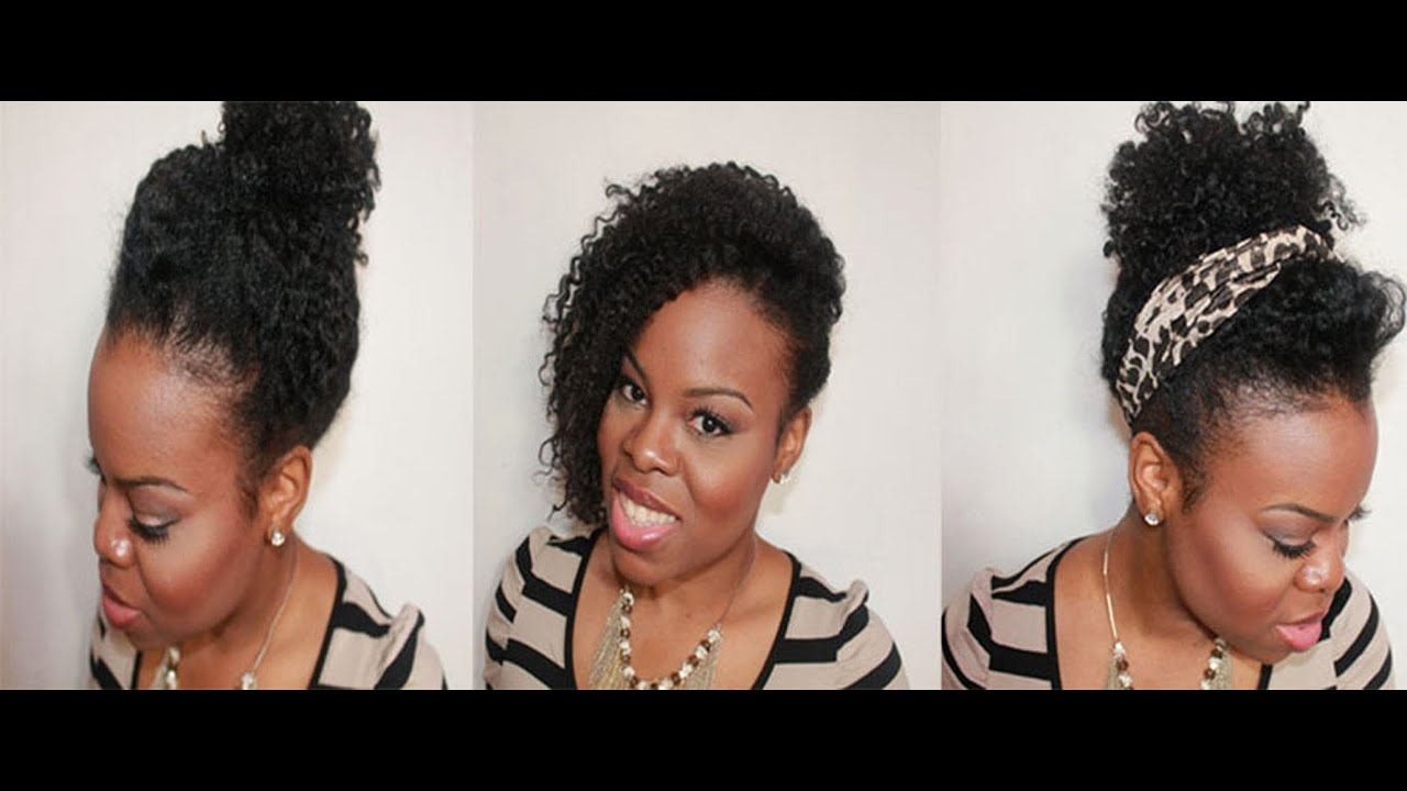 "Lazy Day Hairstyles On ""Natural Hair"""