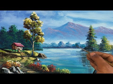 Easy Landscape Painting |Step By Step Painting Tutorial |How to Paint Landscape| Scenery Landscape