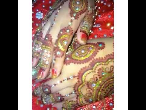 Henna Maroon With Glitter Gold Youtube
