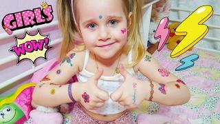 Тату Татуировки Детские Тату Сюрприз для Златуни Бабочки Цветочки Детям Боди Арт | Златуня