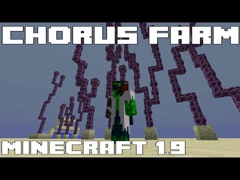 Simple Automated Chorus Farm - Minecraft 1.9