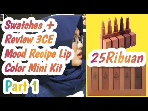 swatches+review-3ce-mood-recipe-lip-color-mini-kit-|-cuma-25rb-dapat-5...-wow!!!