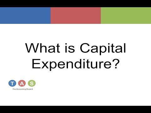 What is Capital Expenditure?