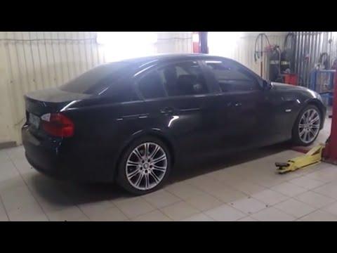 Установка пламегасителей BMW 320.