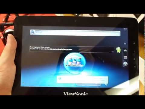 ViewSonic ViewPad 10pro Windows 7 and Android demo