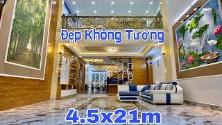 Bán nhà Gò Vấp TPHCM   Siêu phẩm nhà đẹp Quang Trung DT khủng 4.5x21m với cách bố trí rất hợp lý