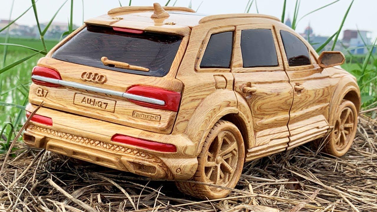 Wood Carving - 2021 Audi Q7 (Amazing Wooden Car) - Woodworking Art