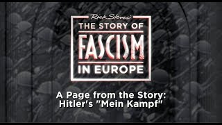 "The Story of Fascism: Hitler's ""Mein Kampf"""