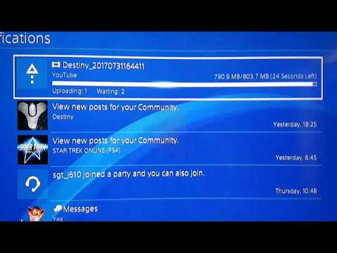 Uploading 3 Videos from PS4 to YouTube.