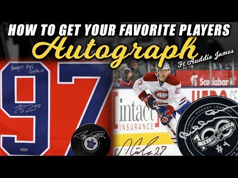 How to Get Your Favorite NHL Players Autograph (ft Auddie James)