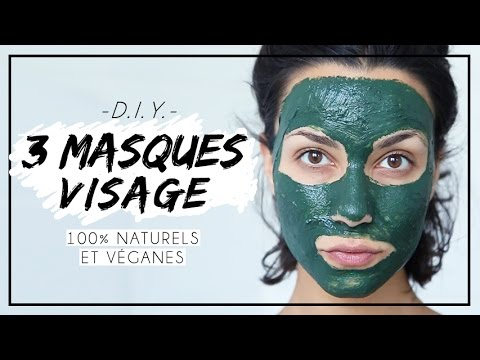 DIY // 3 MASQUES VISAGE (100% naturels et véganes) | Coline