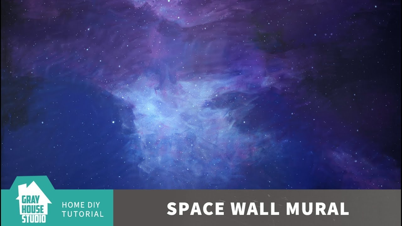 How to Paint a Space Wall Mural // DIY - YouTube