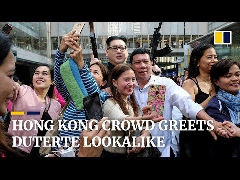 Duterte & Kim Jong-un impersonators' surprise visit causes a stir in Hong Kong