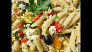 GREEK PASTA SALAD | Fun Festive Food | DIY Demonstration