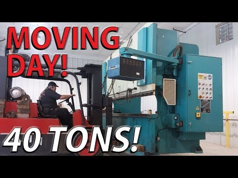 MOVING 40 TONS Of Fabrication Equipment Into The NEW SHOP Building - Rays Projects Update No3