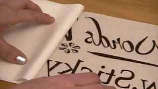 Sticky Words Vinyl Lettering Application Video