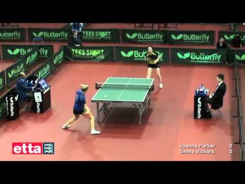 Nationals - Women's Singles Semi-final - Joanna Parker V Emma Vickers