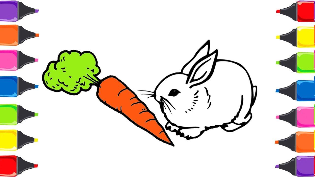 Tavşan Nasıl Boyanir Boya Boya çizelim Boyayalım çocuklar