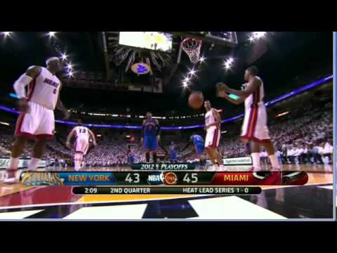 Carmelo Anthony throws ball at Mario Chalmers face after score