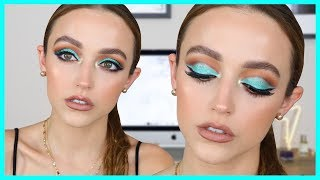 AQUA CUT CREASE MAKEUP TUTORIAL | Kathleen Lights