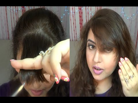 Thumbnail: How to trim your own bangs/fringe at home | IndianBeautyReviewer