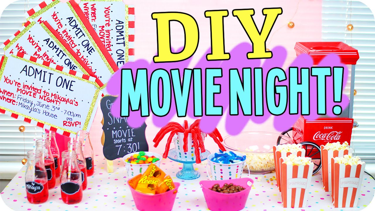 Diy Movie Night Snacks Decor More Youtube