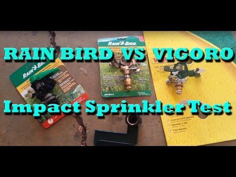 Impact Sprinklers Performance Review - Vigoro Vs Rain Bird