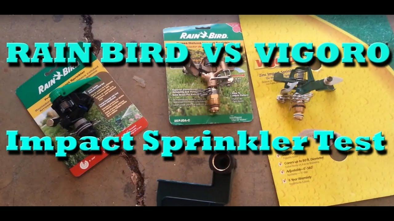 Impact Sprinkler Test - Vigoro Vs Rain Bird