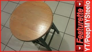 Cheap Wooden Counter Height Bar Stools For Kitchen in Backless Style w/ Step at Used Discount Price