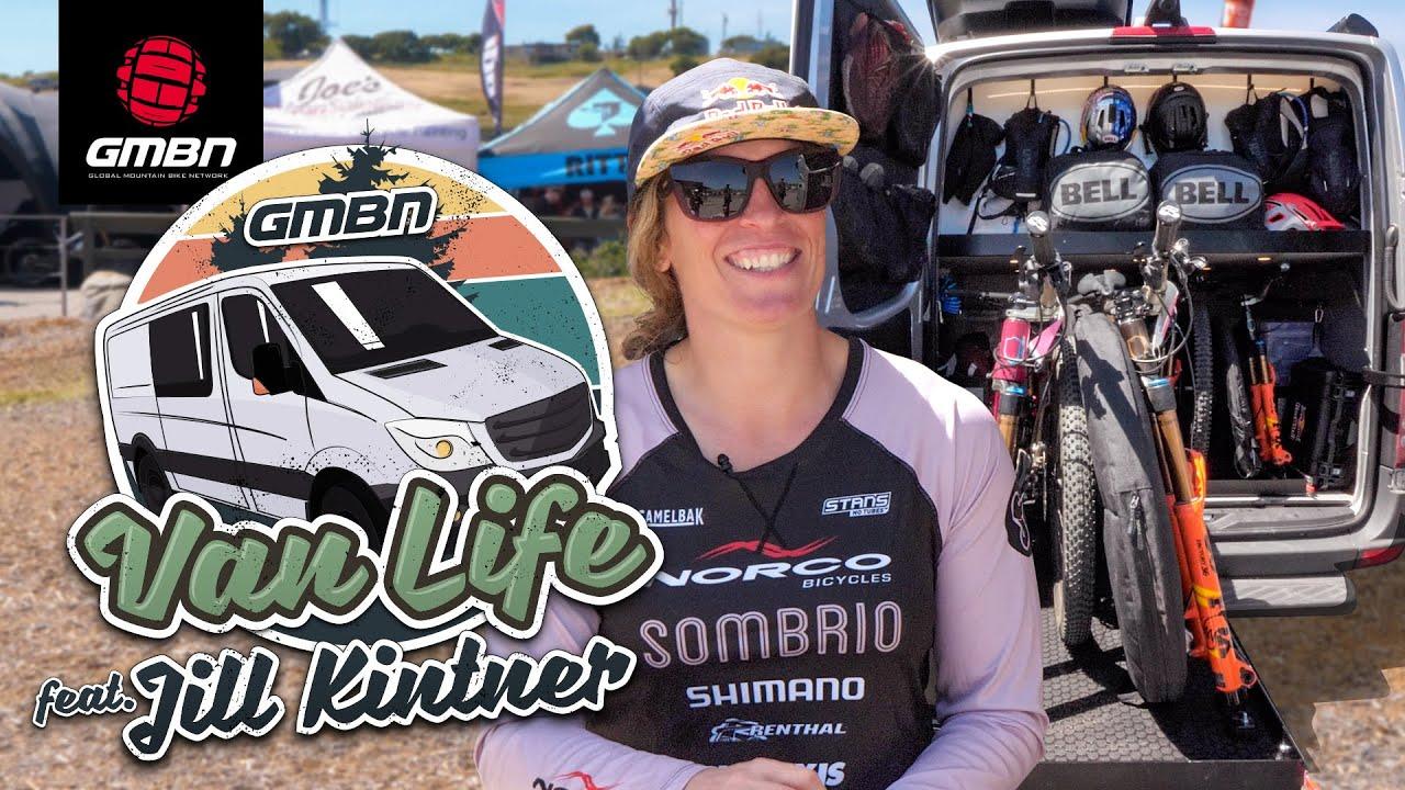 The Ultimate MTB Vehicle? Jill Kintner Van Tour | Mountain Bike Van Life