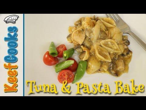 Tuna and Pasta Bake with Mushrooms