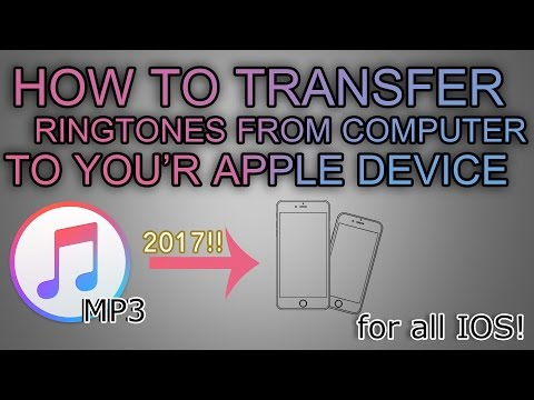 HOW TO TRANSFER RINGTONES(TONES) TO YOUR IPHONE 7!! // ALL IOS AND ALL DEVICES