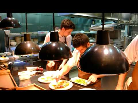 Service at restaurant Costes Downtown Budapest, 4K