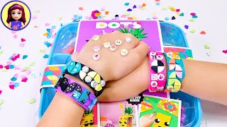 Lego DOTS Wrist Bands - DIY your own design to wear!