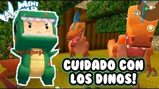Dinosaurios en Mini World | Papá es un NOOB | Juegos MiniWorld Gameplay