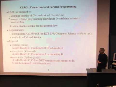 CS upper year information session: CS 343