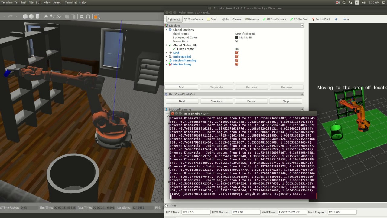 Kinematics Project on Kuka Arm KR210 in ROS