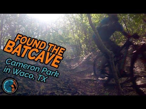 FOUND THE BATCAVE! Mountain Biking Cameron Park in Waco Texas Part 2