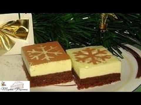 Пирожное суфле с шоколадом и сливками