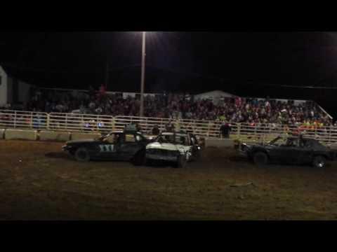 Breckinridge Co Ky Fair Demo Derby 2016 STOCK BIG CARS