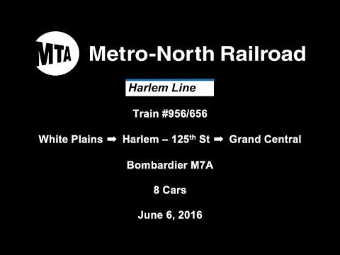 MTA Metro North Railroad Harlem Line #956/656 - White Plains ➡ Grand Central (6/6/2016)