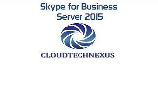 Skype for Business Server 2015 Setup - Video#03