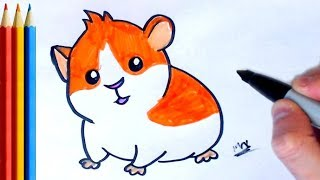 How to Draw Hamster Easy - Step by Step Tutorial For Kids