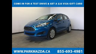 BLUE 2014 Ford Fiesta  Review Sherwood Park Alberta - Park Mazda