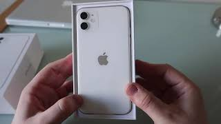 Apple iPhone 11 64GB White Unboxing